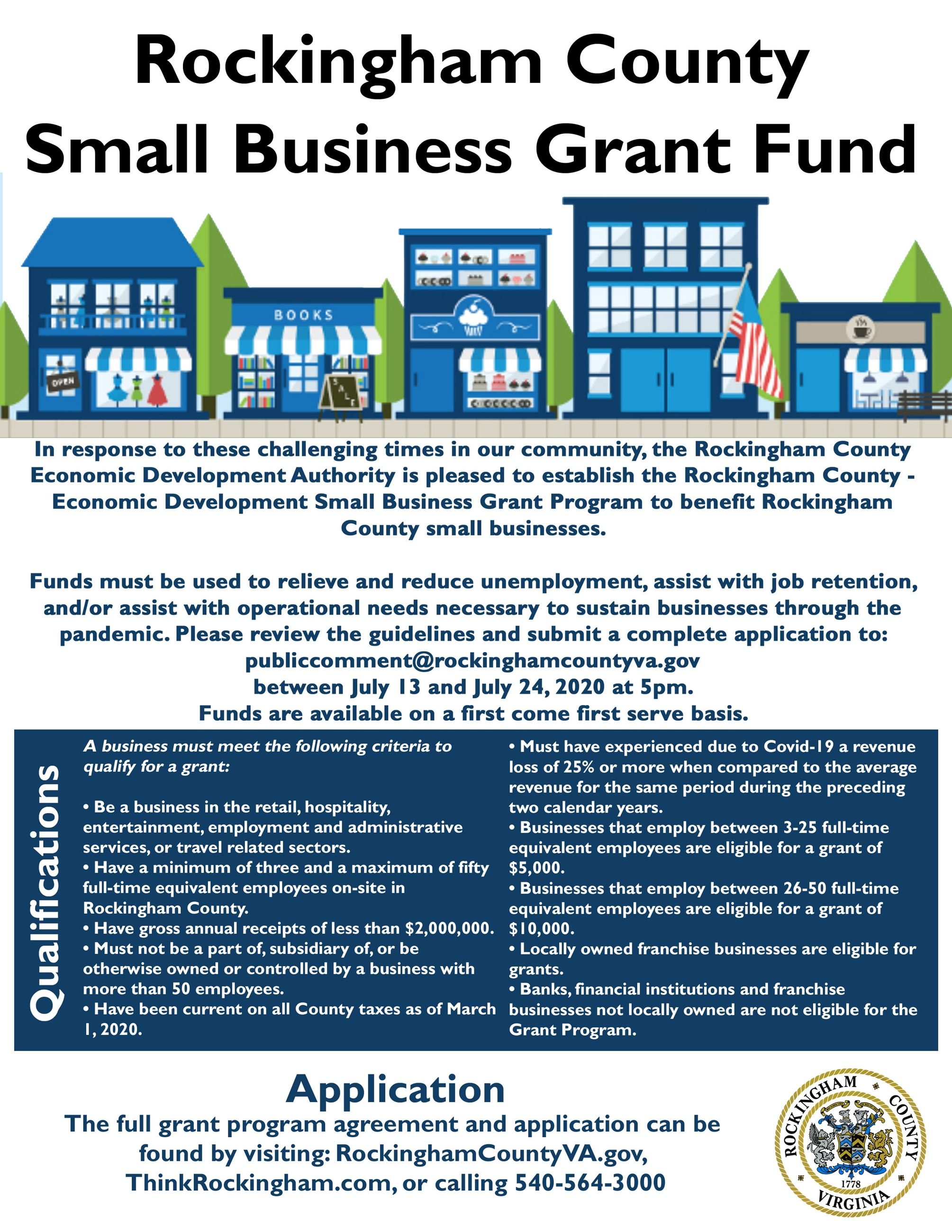 RoCo Small Business Grant Flyer